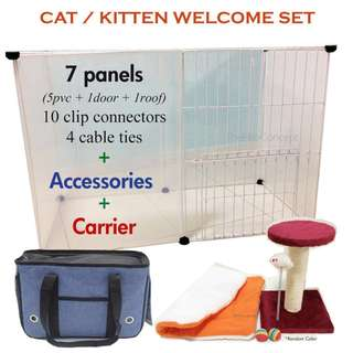 Kitten / Cat Cage & Accessories Set / flexible tier / climb