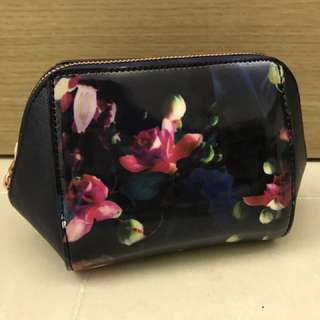 Ted Baker Fuchsia Print Make Up Bag