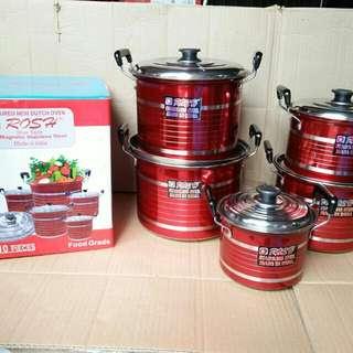 Panci set rosh warna merah isi 10pcs