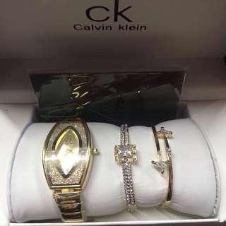 Calvin Klein Gold Watch with Bracelets
