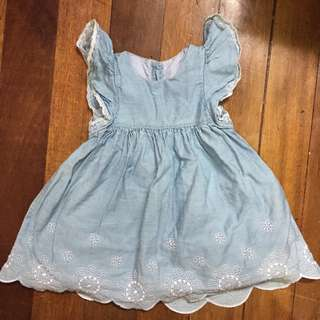 Brand New Denim Dress for 6 months old