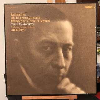 Rachmaninov Piano Concertos Paganini Ashkenazy Previn LONDON ffss CSA-2311 3-LP box set