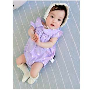 Pink Polka Dotted Baby Girl Bodysuit