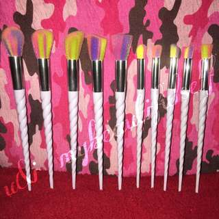 (INSTOCKS) 10pcs Unicorn Makeup Brushes