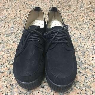 黑色蛋糕鞋 厚底鞋