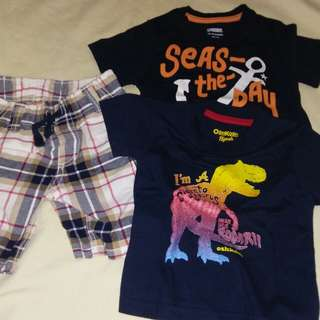 Set of shorts and tshirts for baby boy