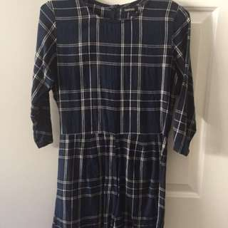 blue plaid boohoo playsuit