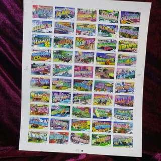 美國50州郵票 US stamp