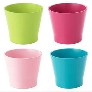 IKEA Papaja 9cm Indoor Plant Pots (Turquoise, Dark Pink, Light Pink and Green)