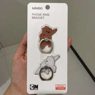 phone ring bracket we bare bears miniso