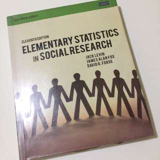 Elementary Statistics for Social Research