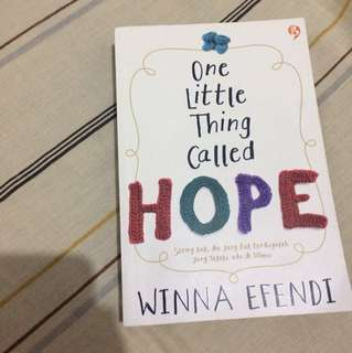 One little thing called hope By Winna Efendi