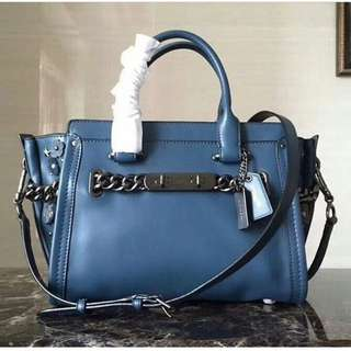 Coach Swagger sz 27 willow blue
