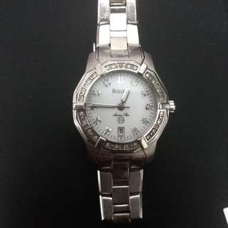 genuine diamond Bulova ladies watch