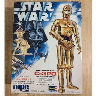 Vintage Star Wars C3PO model kit (1978)