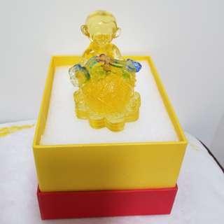 (全新)猴子玻璃 琉璃擺設 裝飾品