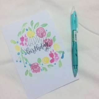 [Flash Sale] Modern Calligraphy Cards