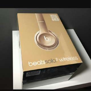 solo 2 gold edition beats bluetooth wireless headphone