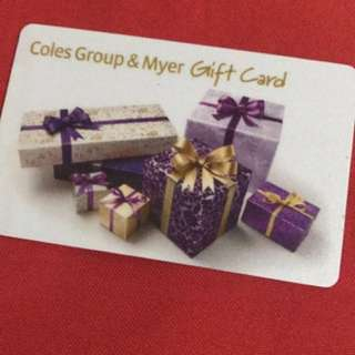MYER COLES GROUO GIFTCARD
