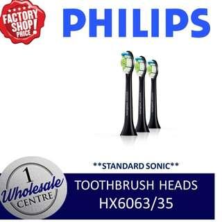 PHILIPS HX6063/35 STANDARD SONIC TOOTHBRUSH HEADS