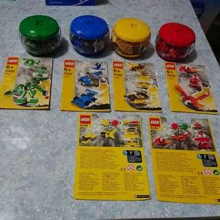 2004年絕版Lego四款組合公仔