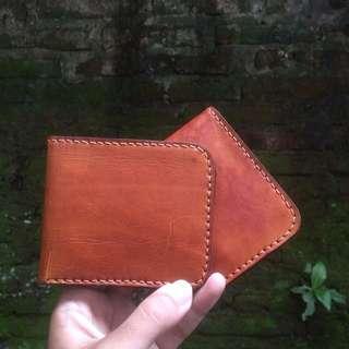 Bifold Leather Wallet Dompet kulit