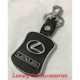 LEXUS METAL CAR LOGO LEATHER KEYCHAIN KEYRING KEY CHAIN RINGS