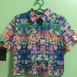 Crop top / collared shirt / polo shirt