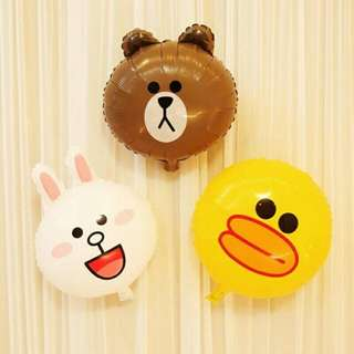 免運 全新 Line 熊大 兔兔 派對氣球