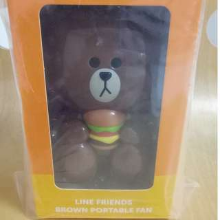 Line Friends - Brown Portable Fan