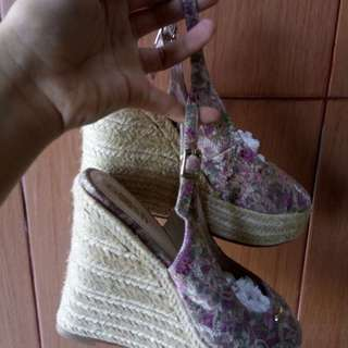 Wedges Nude floral 7cm (repriced)