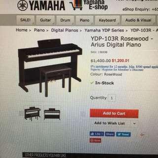 Yamaha digital piano YDP103R