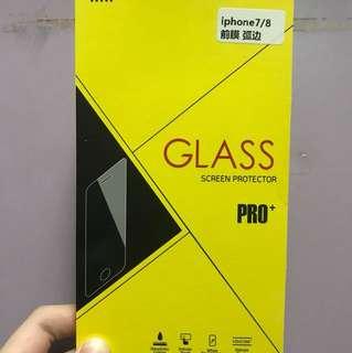 蘋果7/8 iPhone7/8玻璃芒貼 前膜 弧邊