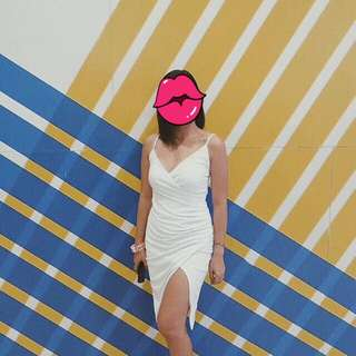 Sexy slit dress