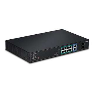 TRENDNET 12-PORT GIGABIT NVR POE+ AV SWITCH WITH LED DISPLAY