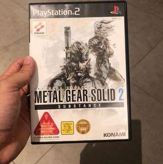 Original Metal gear solid 2 (PS2)