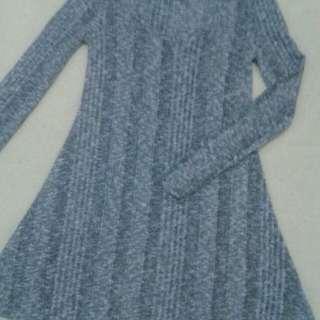 GRAY SMOOTH DRESS