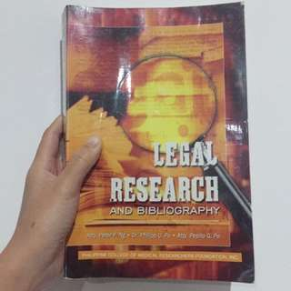Law book - Legal Research