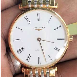 Longines La Grande Classique L47082117 36mm Automatic Gold Plated Stainless Steel Case Multicolor Steel Bracelet Synthetic Sapphire Men's Watch