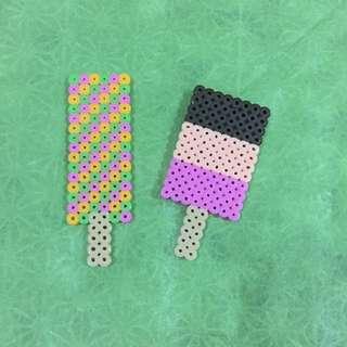 Perler beads ice cream crafts
