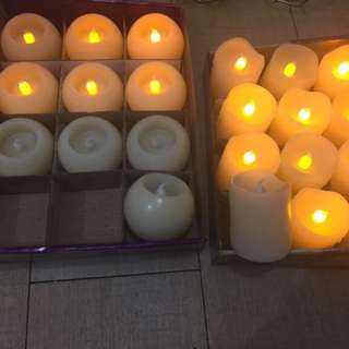 22 pieces artificial candles