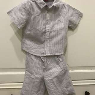 Preloved baby boy set ( chateau de sable, paris ) original for 12 months ( 12-18)