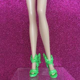 Barbie Doll Shoes (Sale) - Bright Green Fantasy Wedge