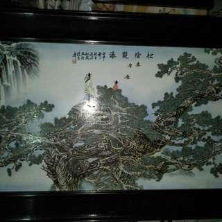 張松茂瓷板画86218574