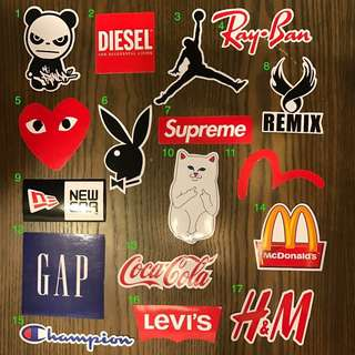 [INSTOCK] Brands Stickers