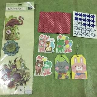 Stickers, mini envelops, gift tags