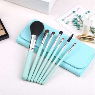 Zoreya Tiffany Blue 7pcs Makeup Brush Set