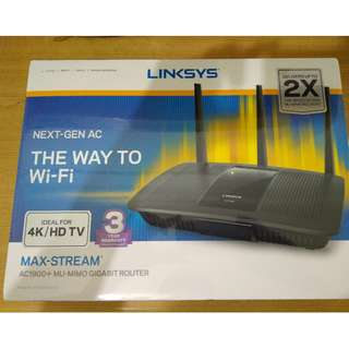 BNIB Sealed in box Linksys MAX-Stream AC1900+MU-MIMO Gigabit Router