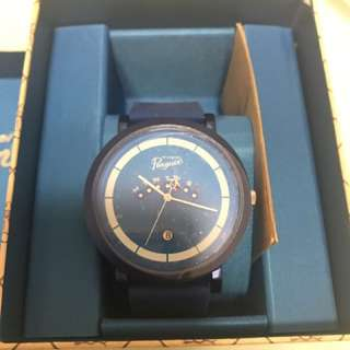Original penguin watch black blue 手錶塑膠帶