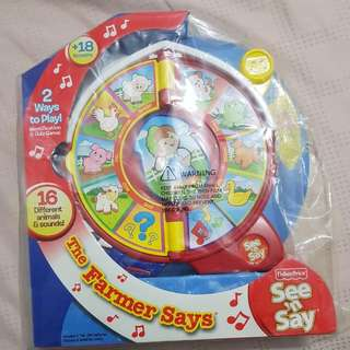 BN Fisher Price The FARMER SAYS SEE N SAY
